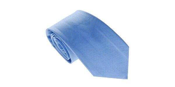 Pánská jemně kostkovaná modrá kravata Marsanpiel