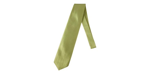 Pánská jemně kostkovaná zelená kravata Marsanpiel