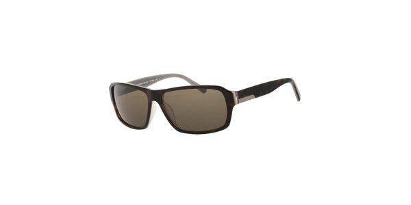 Pánské sluneční brýle Calvin Klein v odstínu havana