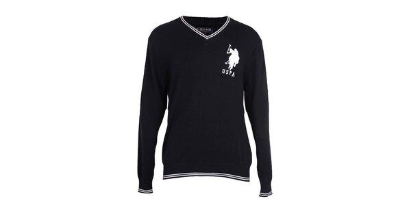 Pánský tmavě modrý svetr U.S. Polo
