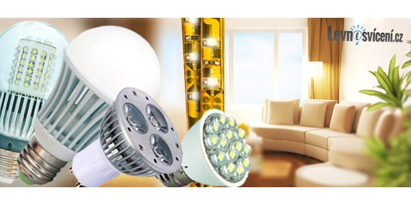 60% sleva na LED žárovky, bodovky i pásky