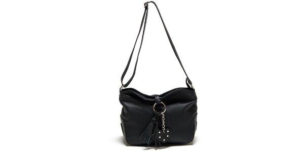 Dámská černá kabelka se střapcem Carla Ferreri