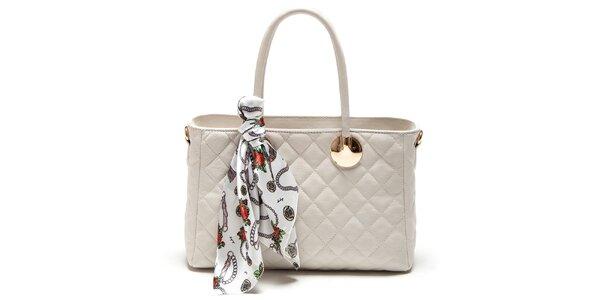 Dámská béžová kabelka s šátkem Carla Ferreri