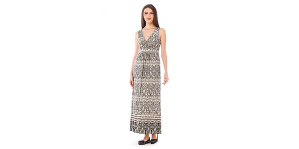 Dámské šedé šaty se vzorem 4Lilou