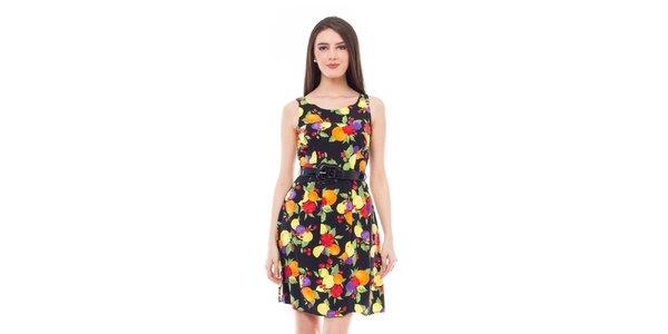 Dámské šaty bez ramínek s potiskem ovoce 4Lilou