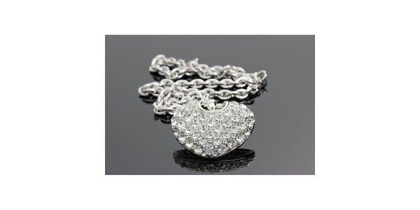 Dámský náhrdelník s krystalkovým srdíčkem Swarovski