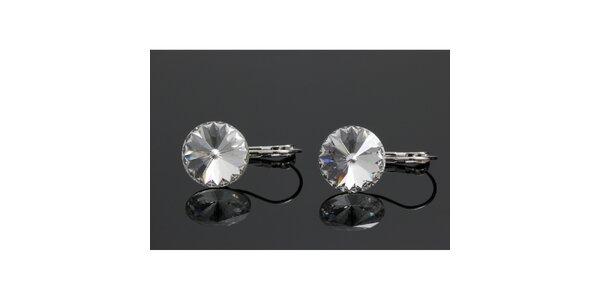 Dámské náušnice s kulatým krystalem Swarovski
