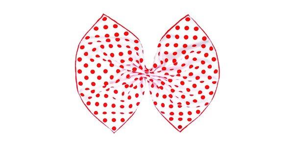 Dámský hedvábný červeně puntíkovaný šátek Fraas
