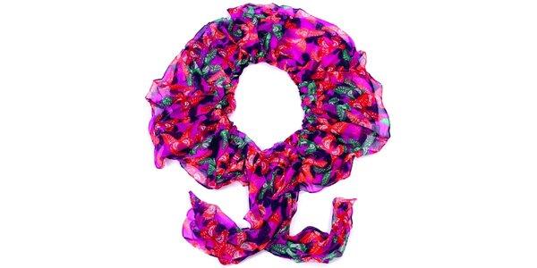 Dámský barevný šátek s motýlky Fraas