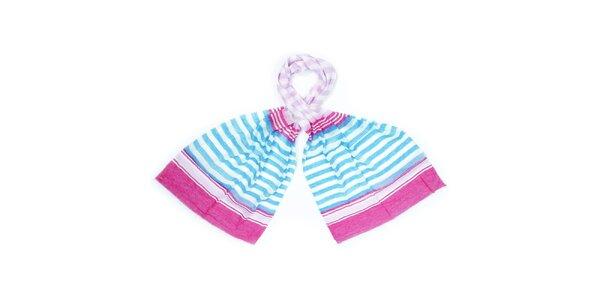 Dámský barevně pruhovaný šátek Fraas