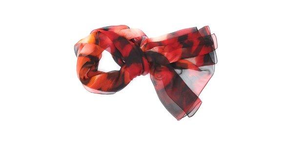 Dámský červeno-černý šátek Fraas