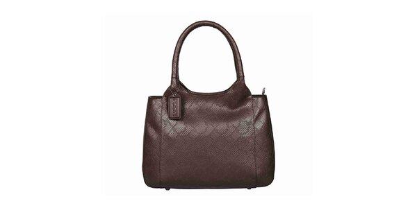 Dámská hnědá kožená kabelka POON Bags