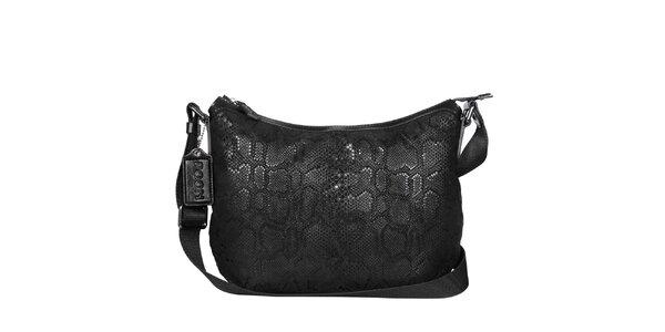Dámská černá hadí kabelka POON Bags