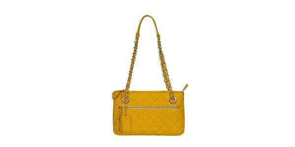 Dámská žlutá kabelka s dlouhými uchy POON Bags