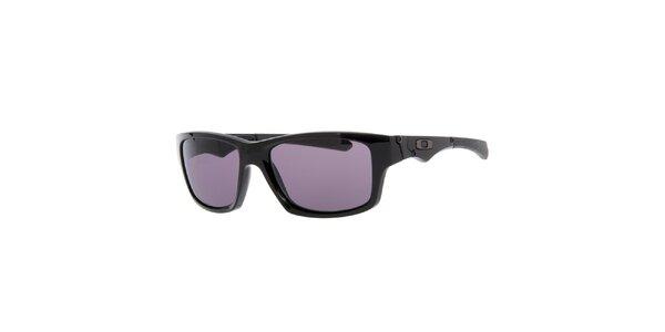 Černé sluneční brýle s ozdobnými stranicemi Oakley