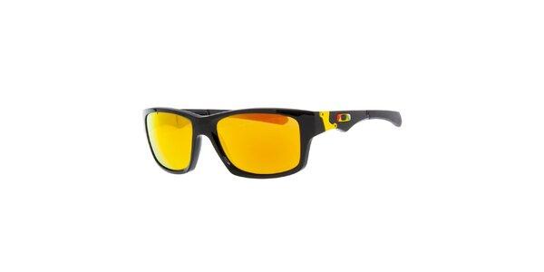 Černé sluneční brýle se žlutými skly Oakley