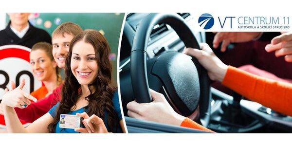 Řidičák skupiny B za 7290 Kč (rezervace místa)