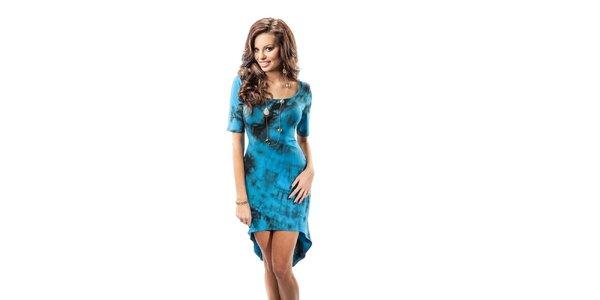 Dámské modré šaty s batikovaným vzorem Enny