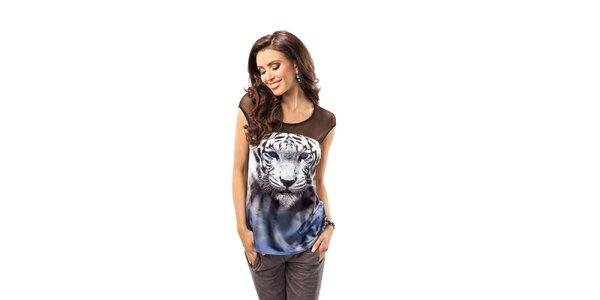 Dámský top s obrázkem tygra Enny