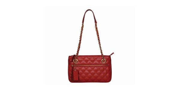 Dámská červená kabelka s dlouhými uchy POON Bags