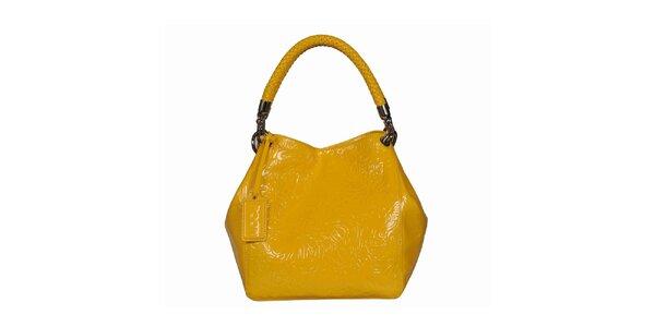 Dámská žlutá vzorovaná kabelka POON Bags