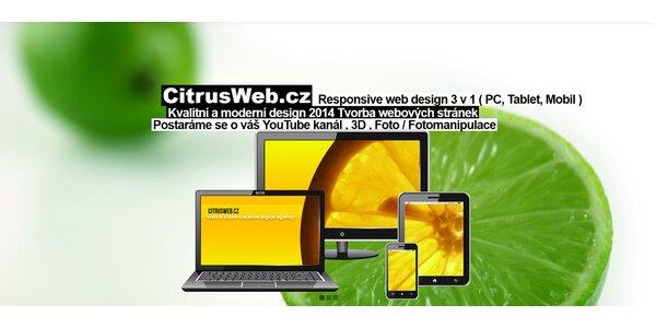 Vytvoření a spuštění webových stránek
