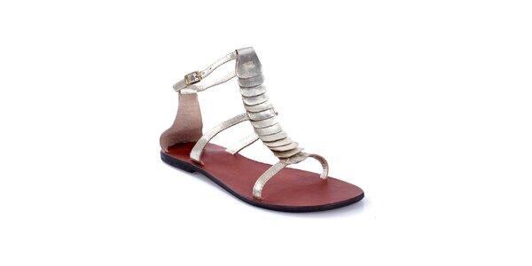 Dámské metalické sandálky Gallaz