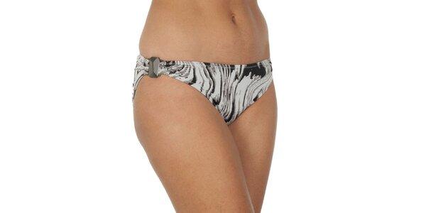 Dámské šedě žíhané plavkové kalhotky Calvin Klein