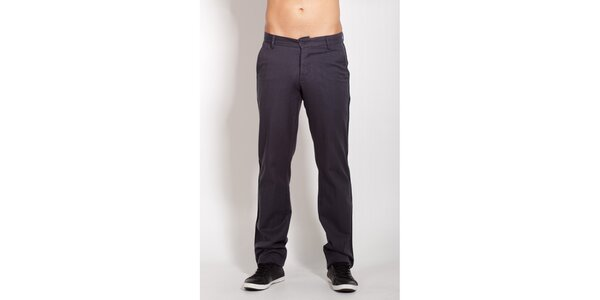 Pánské tmavě šedé bavlněné kalhoty Lois