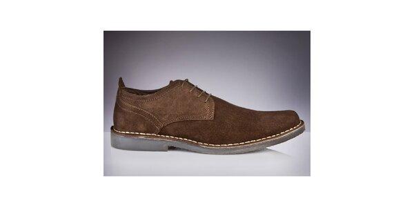 Pánské hnědé semišové boty Roamers