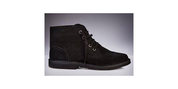 Pánské černé kotníčkové boty Roamers