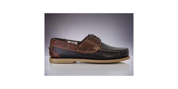 Pánské tmavě modré boty s hnědými částmi DEK