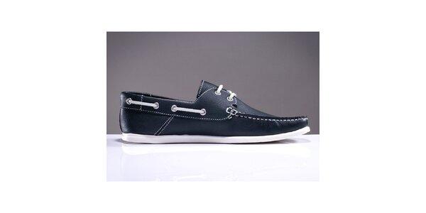 Pánské tmavě modré boty s prošívanou špičkou DEK
