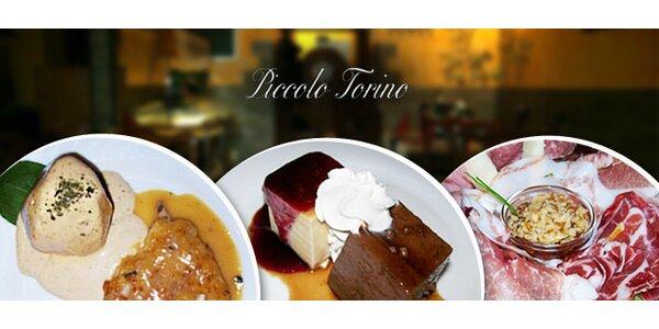 Italské čtyřchodové degustační menu pro dva