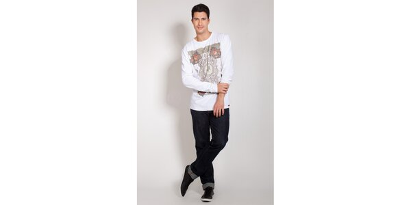 Pánské bílé triko Lois s potiskem