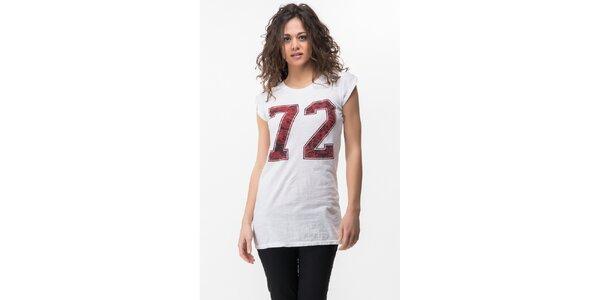 Dámské bílé tričko s potiskem Sixie