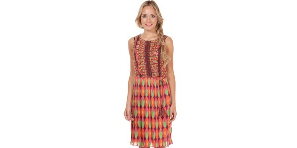 Dámské šaty s barevným květinovým vzorem Rosalita McGee