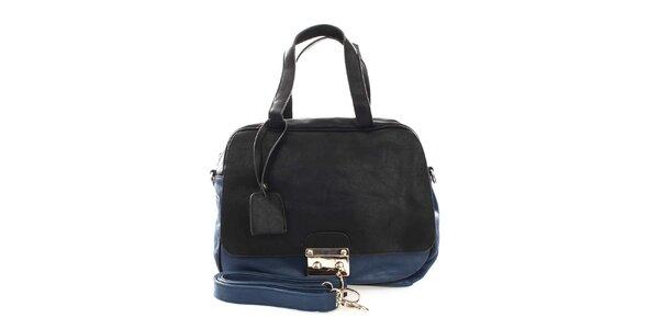 Dámská modro-černá kabelka London Fashion