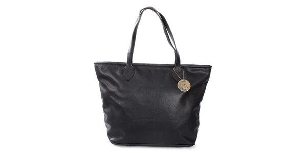 Dámská černá kabelka na zip London Fashion