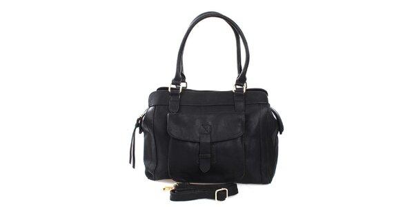 Dámská černá kabelka se dvěma uchy London Fashion