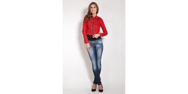 Dámská červená džínová bundička Lois