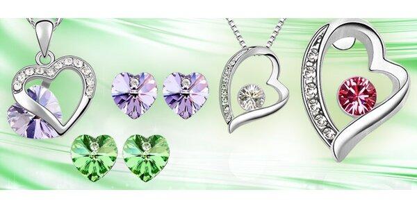 Dárková sada náušnic a náhrdelníku Swarovski Elements