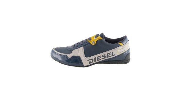 Pánské modro-šedo-žluté tenisky Diesel