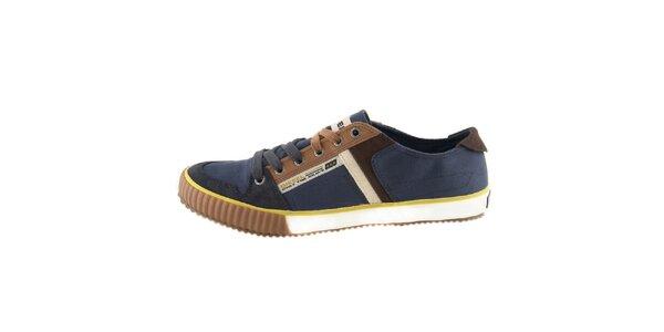 Pánské modré textilní boty Diesel