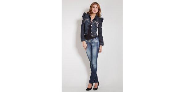 Dámská tmavě modrá džínová bunda Lois