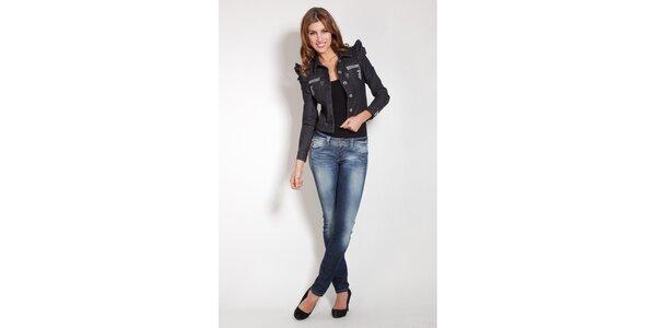 Dámská černá džínová bunda Lois