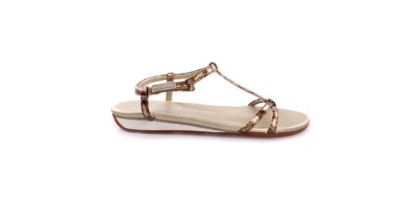 Dámské zlaté sandály DKNY Active