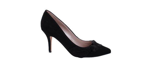 Dámské černé semišové lodičky DKNY
