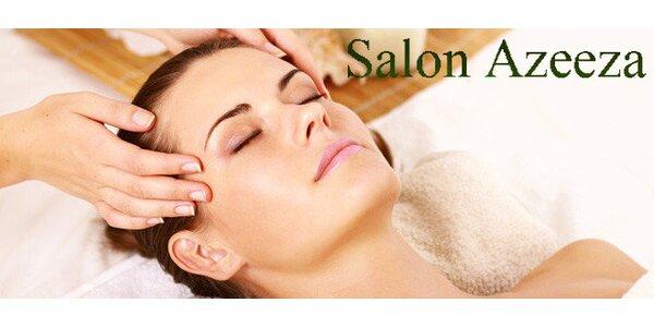 Ájurvédská masáž obličeje, krku a dekoltu