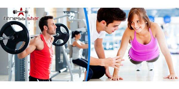 Hodina ve fitness s trenérem včetně vstupu zdarma